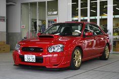 The Red Cars with Gold Wheels thread Japanese Sports Cars, Japanese Cars, Wrx Sti, Subaru Impreza, Dream Cars, My Dream Car, Jdm Imports, Japanese Domestic Market, Subaru Cars