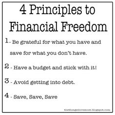 Principles to Financial Freedom