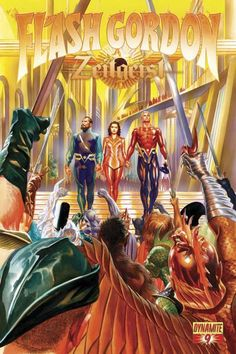 Flash Gordon by Alex Ross Comic Book Pages, Comic Book Artists, Comic Book Characters, Comic Artist, Comic Books Art, Flash Gordon, Alex Ross, Pulp Fiction, Science Fiction