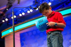 Week of May 29, 2015 Kasey Torres, 10, of San Angelo, Texas, ponders the spelling of 'antipasto' during the 2015 Scripps National Spelling Bee on Wednesday in Oxon Hill, Md.     ANDREW HARNIK/ASSOCIATED PRESS