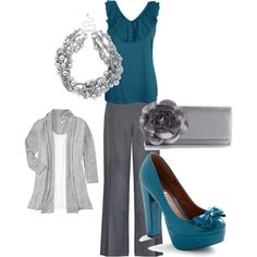 Teal work outfit by mckowenks on Polyvore featuring Old Navy, Alexon, Tulle Clothing, Lulu Townsend and Betty Jackson. Black