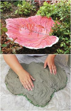 15 Near Genius DIY Concrete Ornaments That Add Beauty To Your Garden - DIY Sand Cast Leaf Bird Bath The Effective Pictures We Offer You About butterfly garden A quality - Concrete Bird Bath, Cement Art, Concrete Crafts, Concrete Garden, Concrete Cement, Concrete Furniture, Polished Concrete, Urban Furniture, Garden Crafts