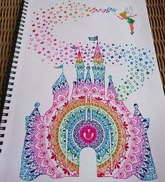 Mandala Disney Castle  tag your friends  - Hashtag your pictures/videos #TrendyPolish to be featured on my page! Credit: @ivanacoppola.art ✨