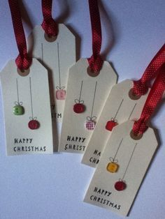 Handmade Gifts Similar Items Like Handmade Gift Tags on Etsy Christmas Projects, Holiday Crafts, Christmas Gift Wrapping, Christmas Ornaments, Christmas Gift Labels, Handmade Christmas Cards, Diy Christmas, Button Christmas Cards, Christmas Items