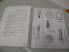 Science tools for science notebook- oh, I mean Engineering Notebook