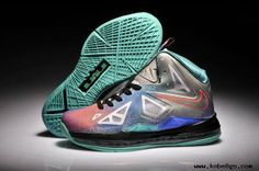 Cheap Pure Platinum Black-Sport Turquoise Pure Platinum Womens Nike LeBron X For Wholesale