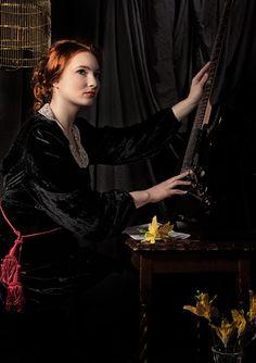 """The Interpretation: Georgia Claire's version of Rossetti's """"Veronica Veronese."""""""