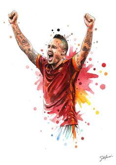 Roma Art: Salah, Totti and Radja illustrated