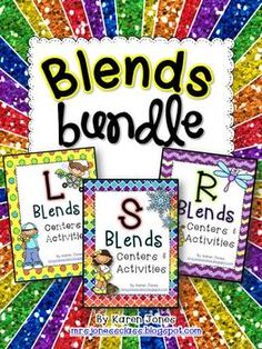 Blends Bundle! Over 20 centers & activities to teach L blends (bl, cl, fl, gl, pl, sl), R blends (br, cr, dr, fr, gr, pr, tr) and S blends (sc, sk, sl, sm, sn, sp, st, sw). $