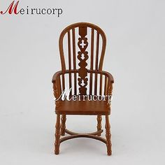 Fine-1-12-scale-dollhouse-miniature-furniture-wooden-handmade-collectible-chair