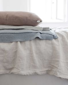 Linen curtains and bedding by Dutch sustainable brand By Mölle   www.lauraenjames.com