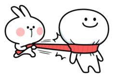 "Spoiled Rabbit ""Winter"" – LINE stickers Funny Faces Pictures, Cute Love Pictures, Cute Love Memes, Cute Love Gif, Memes Funny Faces, Funny Face Drawings, Cute Kawaii Drawings, Cute Couple Wallpaper, Wallpaper Iphone Cute"