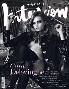 COVER MODELS.com Feed Highlight Description Cara Delevingne looks HOT in the cover of Interview magazine (May 2013). #magazine #cara