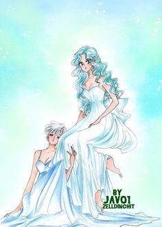 haruka and michiru - Uranus and Neptune princesses by zelldinchit.deviantart.com on @deviantART