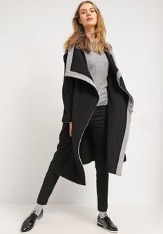 Sisley Classic coat - black - Zalando.co.uk 7e79f293e42