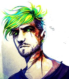 the-dead-trees: never thought of drawing anti before. glad i did :D therealjacksepticeye: Super glad you did too, this is amazing!!!