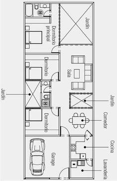 PLANO DE CASA DE UNA SOLA PLANTA 160 M2 DE TERRENO : PLANOS DE CASAS GRATIS Y DEPARTAMENTOS EN VENTA