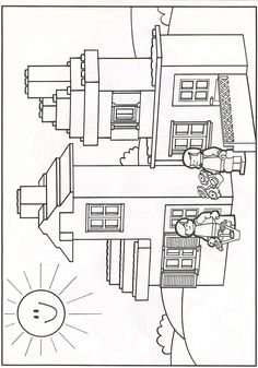 coloring page Lego on Kids-n-Fun. At Kids-n-Fun you will always find the nicest coloring pages first! Ninjago Coloring Pages, Cool Coloring Pages, Coloring Pages For Kids, Kids Coloring, Lego Themed Party, Lego Birthday Party, Lego Classroom Theme, Lego Friends Party, Legos