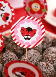Ladybug Birthday Party Printables by PixieBearParty on Etsy
