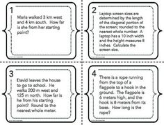 Pythagorean Theorem Word Problems Coloring Worksheet | More ...