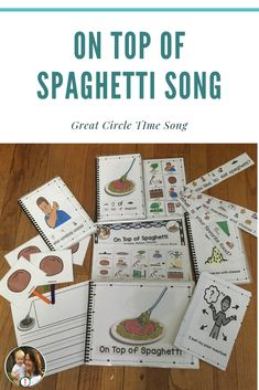 On Top Of Spaghetti Song: Differentiated, Rebus Read Speech Language Pathology, Speech And Language, Rebus Books, Circle Time Songs, Great Poems, Conversation Cards, School Songs, Simple Sentences