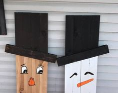 Scarecrow & Snowman | Double Sided-Sign