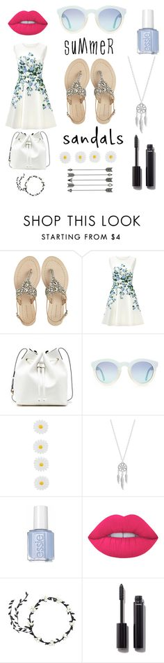"""""""SummerSandals."""" by denisegul ❤ liked on Polyvore featuring Antik Batik, ERIN Erin Fetherston, Sole Society, Monsoon, Lucky Brand, Lime Crime, Chanel and summersandals"""