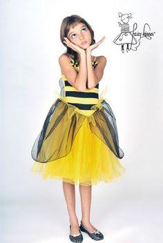 Fairy Kisses - Bumblebee Dress: Sizes S (4-5), M (6-7), L (8-9). $63.99
