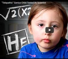 Child Genius 5 year old Ramses Sanguino, suspected Telepathic was put to the test by Neuroscientist Dr. Diane Hennacy Powell MD. Watch this short video. www.telepathyhub.com