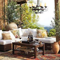Mediterranean Home Decor | Mediterranean-style Outdoor Room