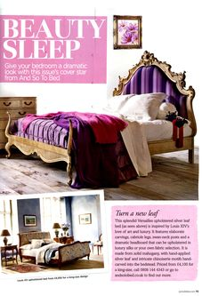 Dramatic Look, Upholstered Beds, October 2013, New Leaf, Versailles, Period, Master Bedroom, Sleep, Romantic