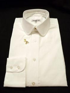 Darcy casual stiff starched collar by collareduk for Pin collar shirt double cuff