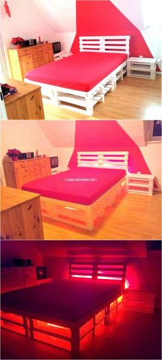 recycled pallet wood bed 64