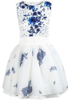 Organza Floral Dress