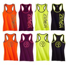 """Authentic New Zumba Fast Dash Racerback Tank Tops NWT """"SOLD OUT"""""""