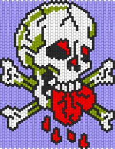 Ed Hardy Love Dies Hard bead pattern