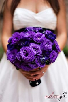 Glorious purple lisianthus... who needs roses when you could have these???