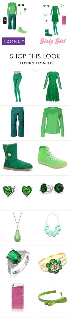 """""""Girly Girl vs. Tomboy: Gekko's Version"""" by sierra-ivy on Polyvore featuring Dolce&Gabbana, Patagonia, Fedeli, UGG Australia, Starry Eyed, Bling Jewelry, Van Cleef & Arpels, NIKE, Frontgate and L. Erickson"""