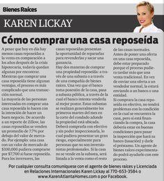 Amigos, los invito a leer mi columna en el periódico La Visión. Esta semana hablaremos de los pasos para la compra de una casa reposeída. Disfruten!