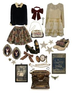 """""""August Moon"""" by dollydust ❤ liked on Polyvore featuring Big Star, Topshop, Nique and Bocage"""