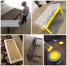 ottaman used a a coffe table | DIY Coffee Table Turned Into An Ottoman | Mom & Wife