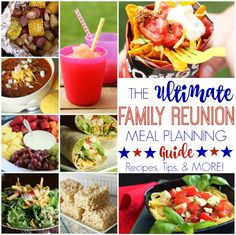 Tips for successful family reunion meal planning and over 30 tasty crowd-pleasing recipes. Everything you need and more for the perfect family reunion!