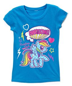 A friendly face always makes a day better, no matter what's in store. And just like a pretty pony, this rainbow bright tee will gallop right into any girl's heart. $8.99