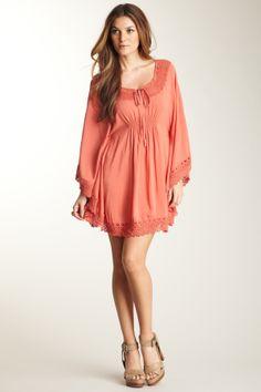 Monoreno Smocked Tunic Dress