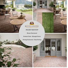 Project showoff - House Claremont - Klompie brick paver -Ideal applications in entrance, patio and walkways areas. Brick Pavers, Outdoor Furniture Sets, Outdoor Decor, Walkways, Cladding, Entrance, Projects, House, Home Decor