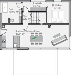 Grundriss Erdgeschoss Plusenergiehaus Life von