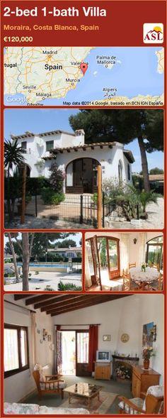2-bed 1-bath Villa in Moraira, Costa Blanca, Spain ►€120,000 #PropertyForSaleInSpain