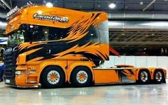 Scania tricked out COE twin steer......