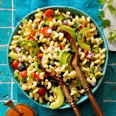 The mixture of salad and pasta make recipes very healthy for everyone. The number of nutrients you will get from pasta salad recipes are immense. Healthy Pasta Salad, Healthy Pastas, Pasta Salad Recipes, Cobb Salad, Couscous Salad, Radish Salad, Rice Salad, Tomato Salad, Avocado Salad