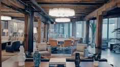 The creative members-only club introduces its newest arm: Soho Works, where the printing room has chandeliers. Custom Furniture, Furniture Design, Commercial Office Design, New York Loft, Traditional Office, Residential Interior Design, Luxury Interior, Soho House, New Property